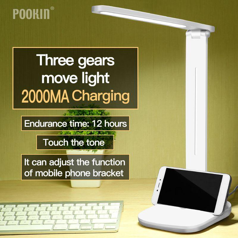 [해외]Usb 충전식 led 접이식 책상 램프 눈 보호 책 긴 수명 dimmable 테이블 램프 led 조명 3 단계 밝기 및 색상/Usb 충전식 led 접이식 책상 램프 눈 보호 책 긴 수명 dimmable 테이블 램프 led 조명 3 단계 밝기 및