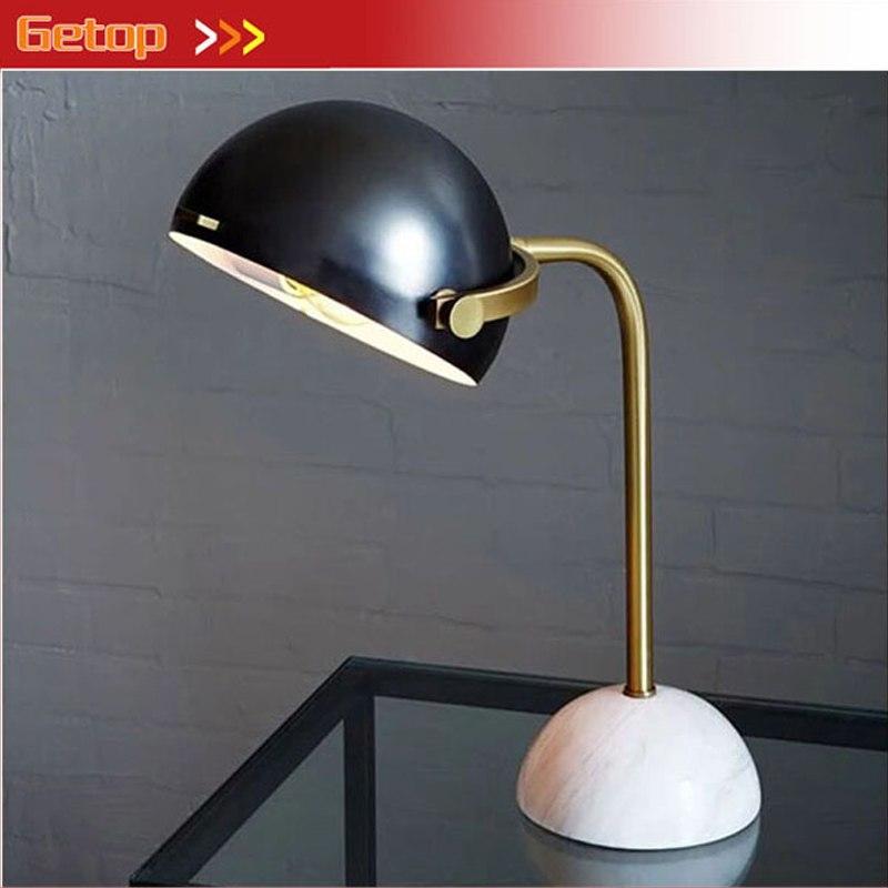 [해외]GETOP 이탈리아어 원형 대리석 기지 책상 램프 철 식당 식당 조명 침실 침실 침대 장식 테이블 램프 고정물/GETOP Italian rotundity Marble Base Desk Lamp iron Dining Room Lighting Bedroom Beds