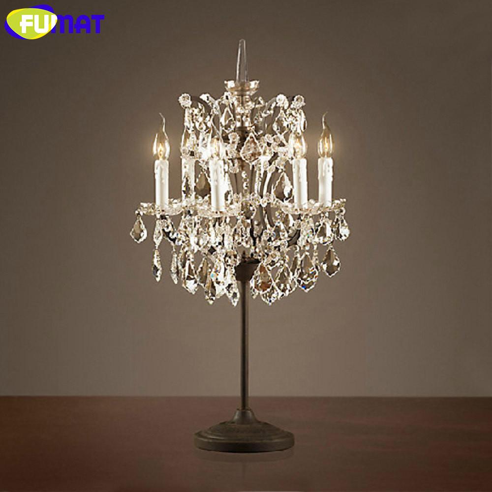 [해외]FUMAT 테이블 램프 Amarican 철 광택 크리스탈 테이블 조명 침실 램프 침실 램프 거실 식당 테이블 램프/FUMAT Table Lamp Amarican Iron Lustre Crystal Table lights Bedside Lamp for Bedroo