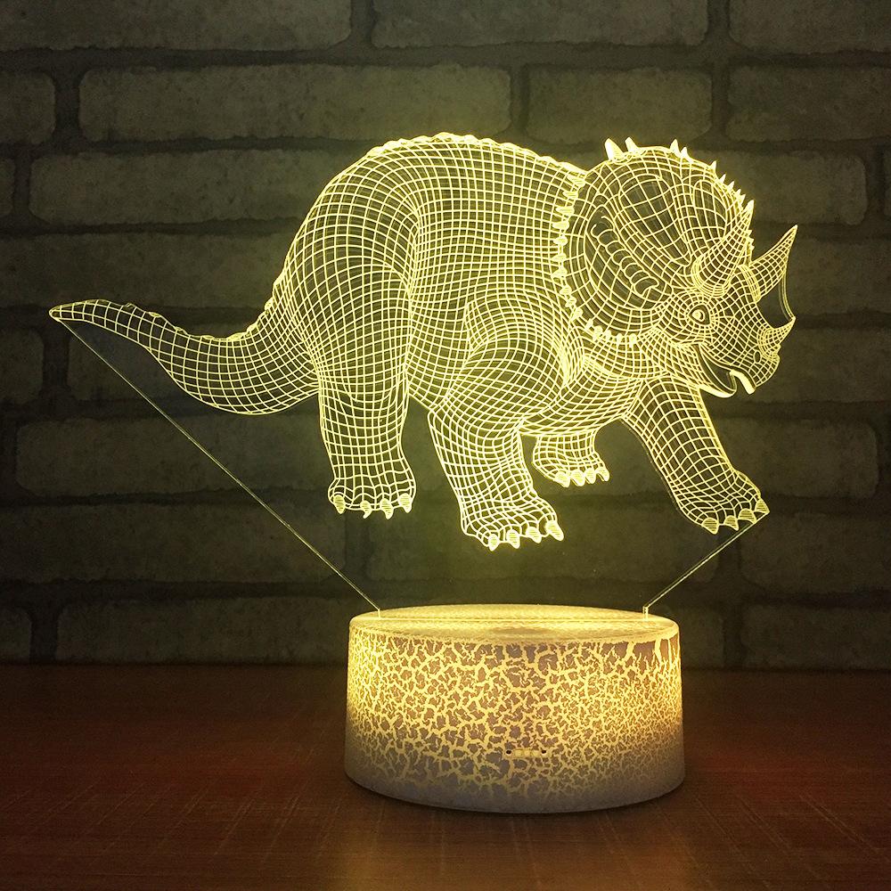 [해외]도매 크리 에이 티브 제품 Led 기본 책상 램프 아크릴 침대 머리 장식 3d 다채로운 밤 빛 테이블 램프 거실/Wholesale Creative Product Led Base Desk Lamp Acrylic Bed Head Decorative 3d Colorf
