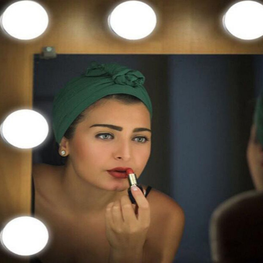 [해외]메이크업 거울 허영심 10 LED 전구 키트 USB 조명이 달린 거울 전구 조정 가능한 밝기 표시 등/Makeup Mirror Vanity 10 LEDs Light Bulbs Kit USB Lighted Make up Mirrors Bulb Adjustable