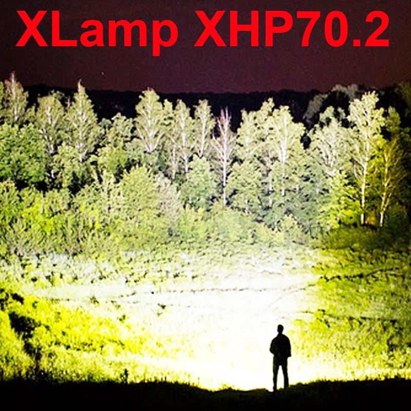 [해외]led flashlight high lumens xhp70.2 most powerful flashlight 26650 usb torch xhp70 xhp50 lantern 18650 hunting lamp hand light/led flashl