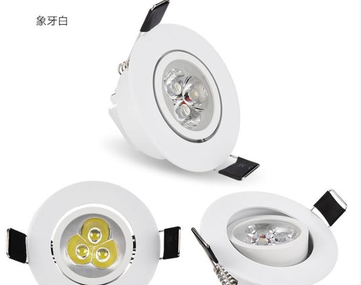 [해외]2018 뜨거운 판매 luces led 빛 90-265v 입력 20 개/몫 downlights 우수한 방열판으로 에너지 절약 고휘도 epistar/2018 뜨거운 판매 luces led 빛 90-265v 입력 20 개/몫 downlights 우
