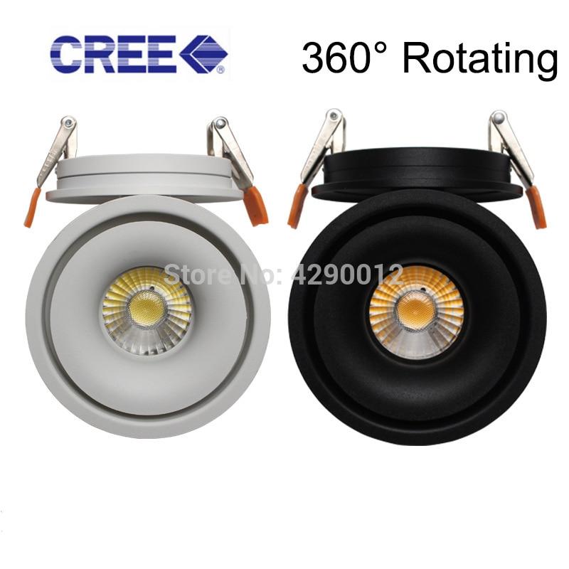 [해외]LED 통 천장 조명 5 W 7 W 10 W 360 학위 회전 LED 천장 램프 스포트 라이트 Downlight AC85-265V/LED 통 천장 조명 5 W 7 W 10 W 360 학위 회전 LED 천장 램프 스포트 라이트 Downlight