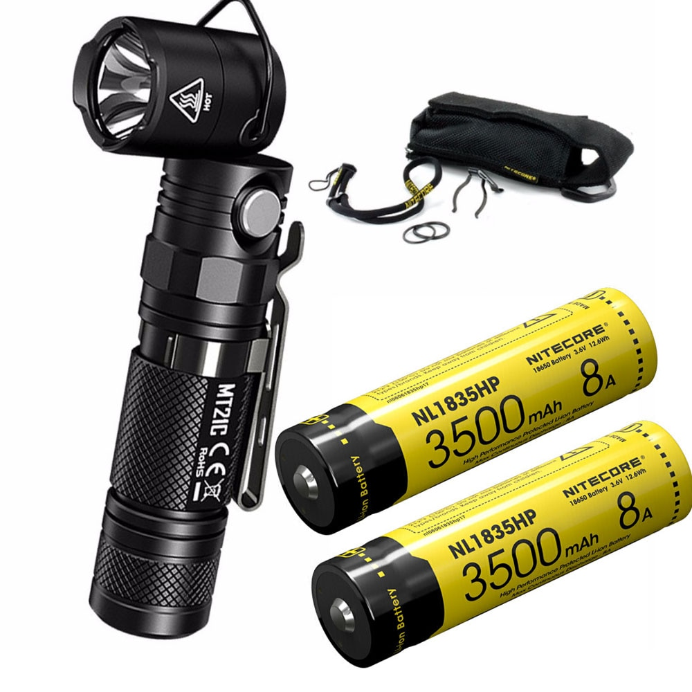 [해외]NITECORE MT21C Multi-functional Flashlight CREE XP-L HD V6 max 1000 lumen 90 Degree Adjustable torch18650 battery/NITECORE MT21C Multi-functional