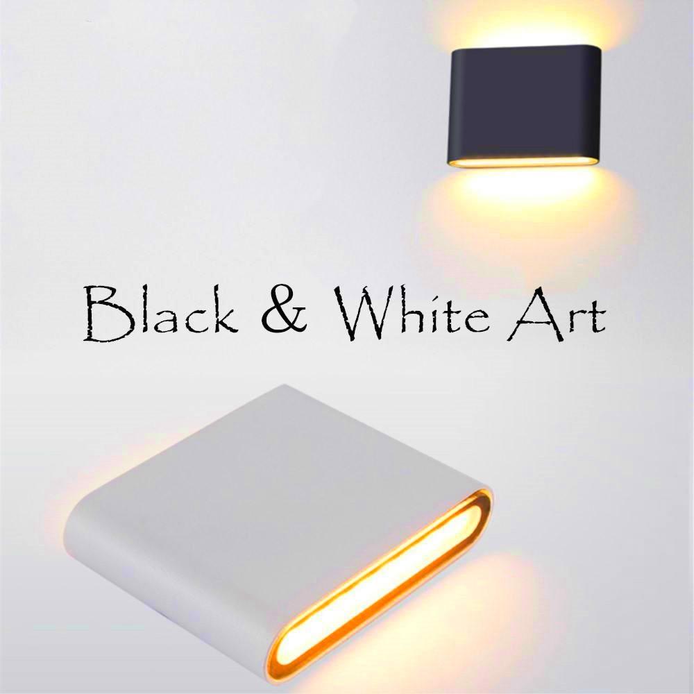 [해외]방수 led 벽 빛 ip65 6 w/12 w cob 알루미늄 욕실 조명 실내 및 실외 벽 램프/방수 led 벽 빛 ip65 6 w/12 w cob 알루미늄 욕실 조명 실내 및 실외 벽 램프
