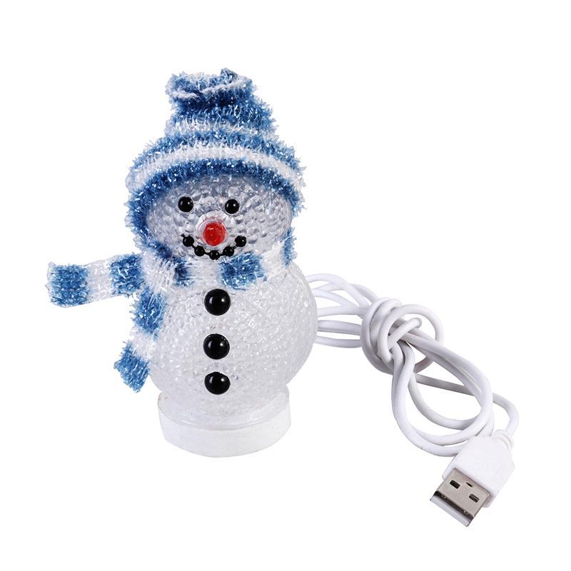 [해외]Christmas Glowing Snowman LED Light USB Night Light RGB 7 Color Flashing Light Bedroom Table Lamp Decorative Lamp Christmas/Christmas Gl