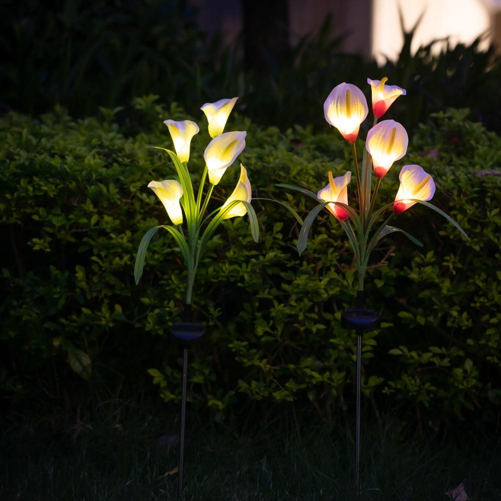 [해외]5 led 태양 빛 옥외 방수 태양 강화한 잔디 램프 마당 경로 방법 조경 장식적인 정원 꽃 램프/5 led 태양 빛 옥외 방수 태양 강화한 잔디 램프 마당 경로 방법 조경 장식적인 정원 꽃 램프