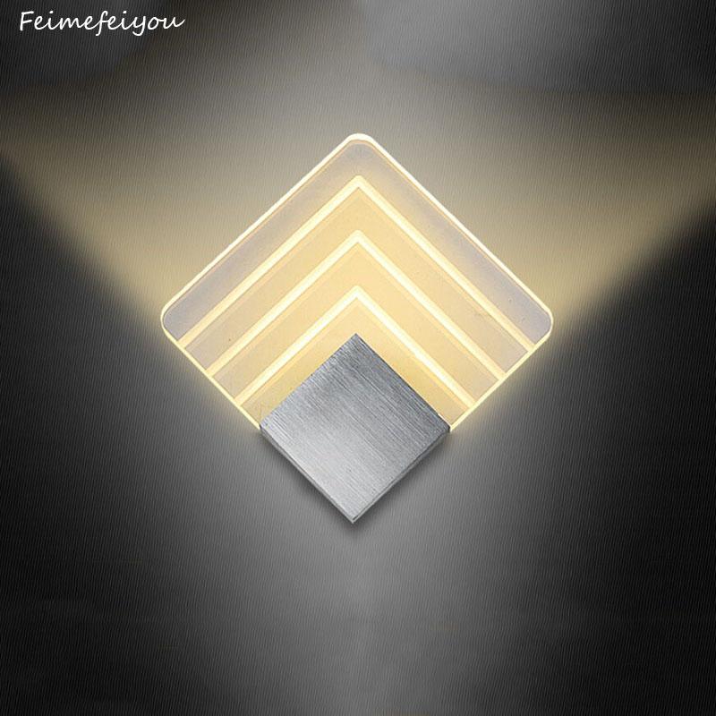 [해외]Feimefeiyou led 알루미늄 벽 조명 레일 프로젝트 광장 led 벽 램프 머리맡 침실 침실 벽 램프 예술 2 크기/Feimefeiyou led 알루미늄 벽 조명 레일 프로젝트 광장 led 벽 램프 머리맡 침실 침실 벽 램프 예술 2 크