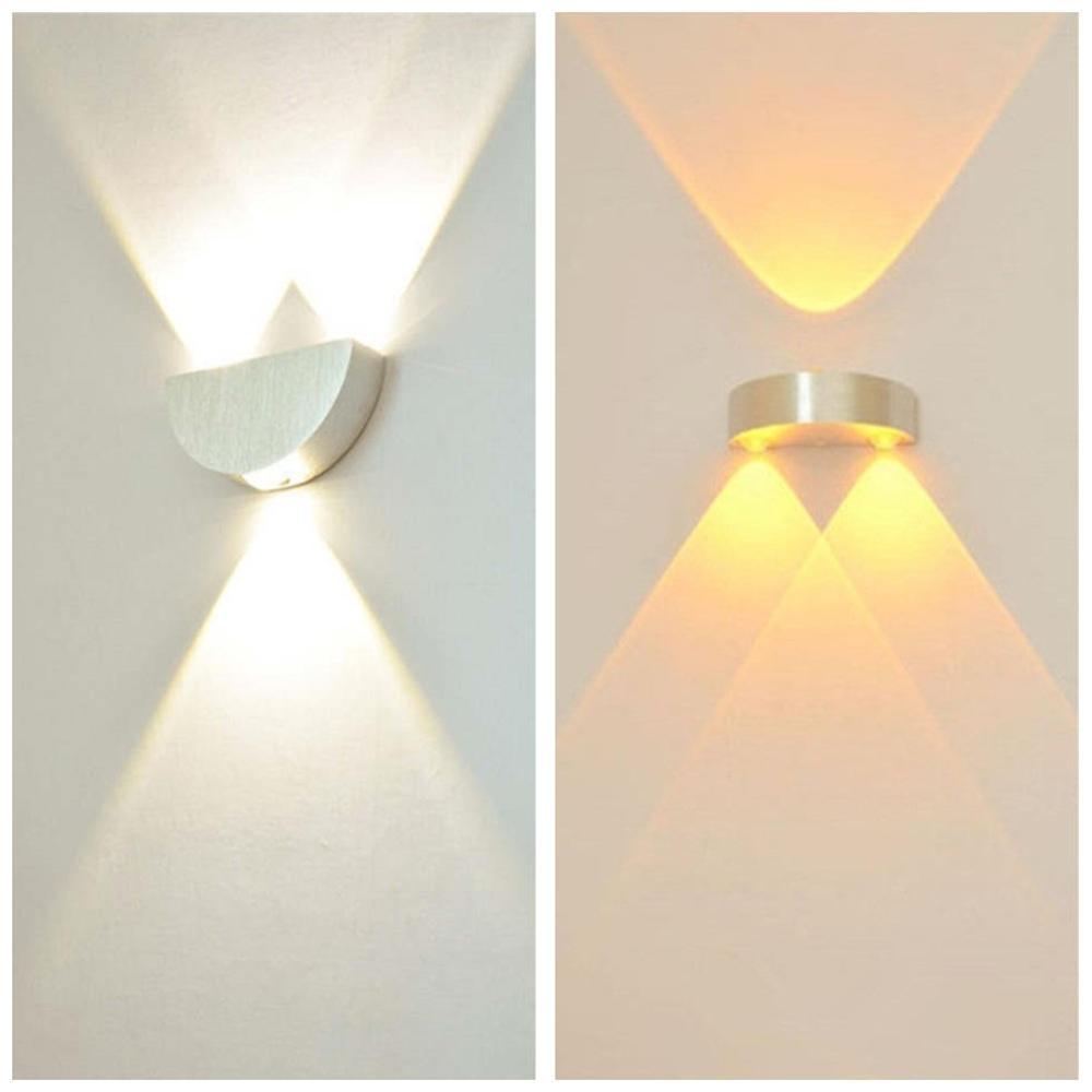 [해외]반원형 벽 램프 9W LED 알루미늄 Sconce 빛 현대 거실 계단 통로 침실 복도 머리맡 조명 장식