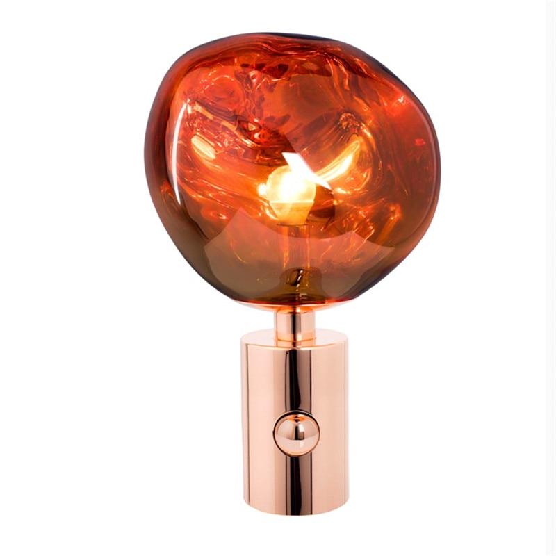 [해외]현대 녹아 테이블 램프 pvc 용암 불규칙한 책상 조명 거실 침대 옆 램프 홈 조명