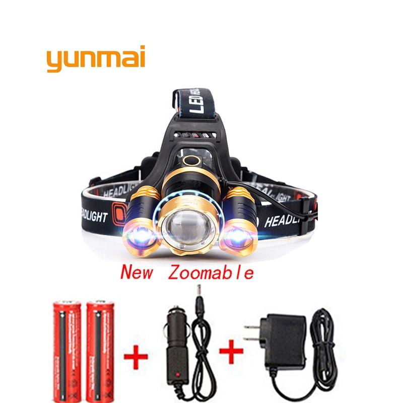 [해외]T6 xm-l + 2q5 led 헤드 라이트 8000lm 헤드 램프 손전등 헤드 토치 linterna 새로운 xml t6 18650 배터리/ac 자동차 충전기 낚시 빛/T6 xm-l + 2q5 led 헤드 라이트 8000lm 헤드 램프 손전등