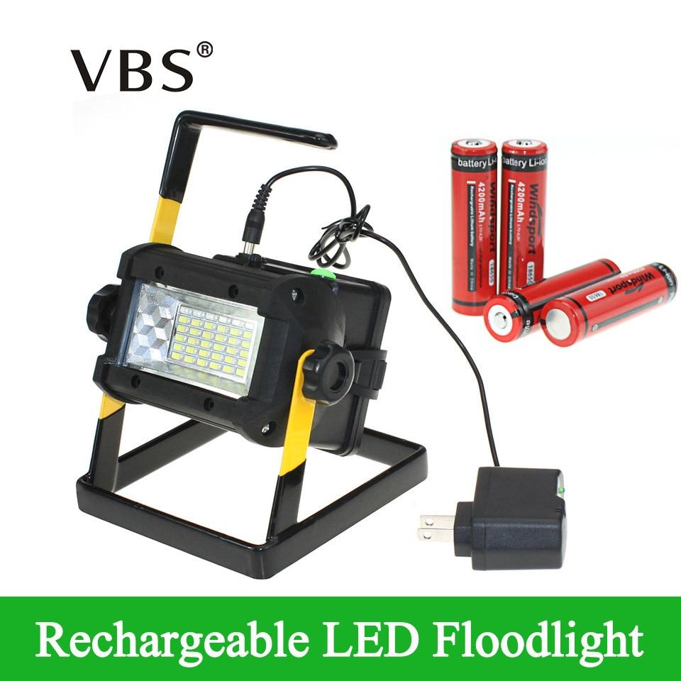[해외]밝기 방수 ip65 36 leds led 투광 조명 휴대용 스포트 라이트 충전식 램프 충전기 및 4*18650 배터리 포함/밝기 방수 ip65 36 leds led 투광 조명 휴대용 스포트 라이트 충전식 램프 충전기 및 4*18650 배터리 포
