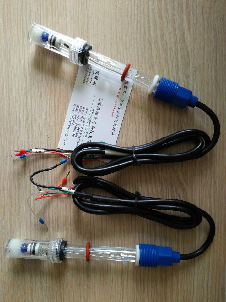 [해외]ES-6505 고온 PH 유리 전극, 고체 기준, 2.252K 온도 보충, 4 와이어 핀 산업용 등급/ES-6505 high temperature PH glass electrode, solid reference, 2.252K temperature suppleme