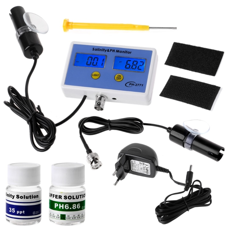 [해외]2in1 Digital Salinity & amp; PH 측정기 수족관 LS & D 도구에 대한 수질 모니터 테스트 pH-2771/2in1 Digital Salinity & PH Meter Water Quality Monitor Test p