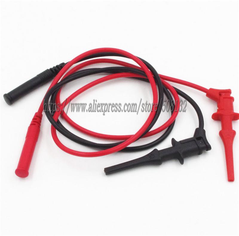 [해외]PVC 4mm shrouded plug 유연한 스프링로드 된 협공 클립 길이 1M/65CM 멀티 미터 용 테스트 리드