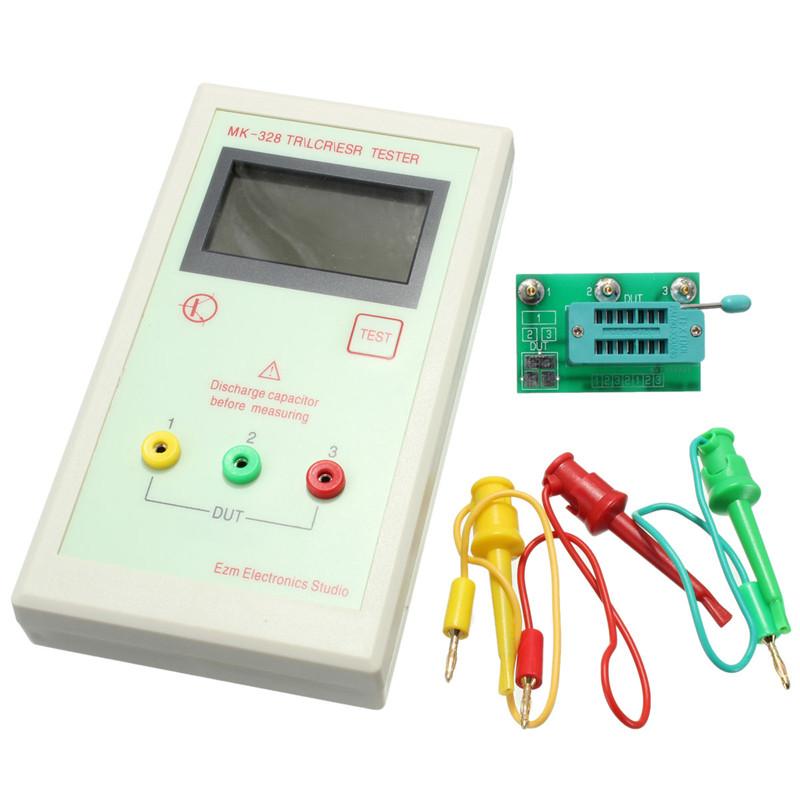 [해외]디지털 멀티 미터 트랜지스터 테스터 커패시터 esr 인덕턴스 저항 측정기 lcr npn pnp mos 커패시턴스 저항 테스터