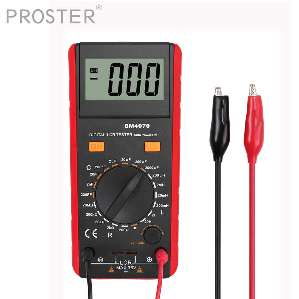 [해외]Proster Digital Professional 인덕턴스 커패시턴스 미터 LCR 미터 1999 년 저전력 표시 전기 핸드 헬드 테스터/Proster Digital Professional Inductance Capacitance Meters LCR Meter