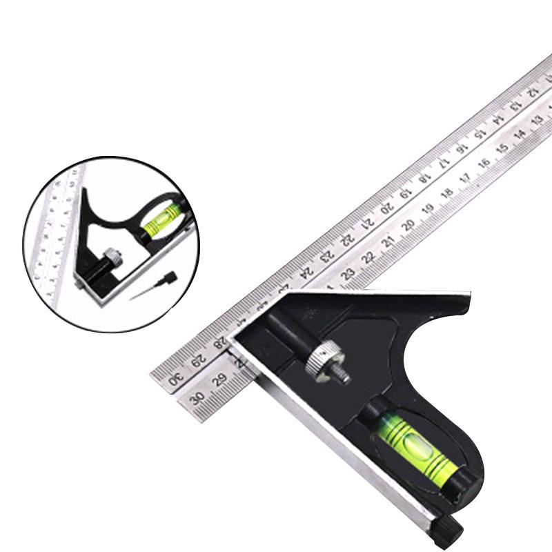 [해외]DIY 작업장 하드웨어 각도 각 레벨 12 & (300mm) 정밀 스테인레스 스틸 측정 도구 알루미늄 콤비네이션 스퀘어/DIY Workshop Hardware Angle Spirit Level 12& (300mm) Precise Stainless Stee