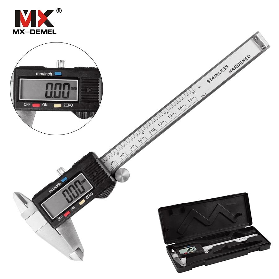 [해외]디지털 캘리퍼스 6 & 150mm 측정 도구 스테인레스 스틸 측정 도구 Vernier Calipers Measuring ToolPlastic Box/Digital caliper 6 &150mm Measuring Tool Stainless Steel Mea