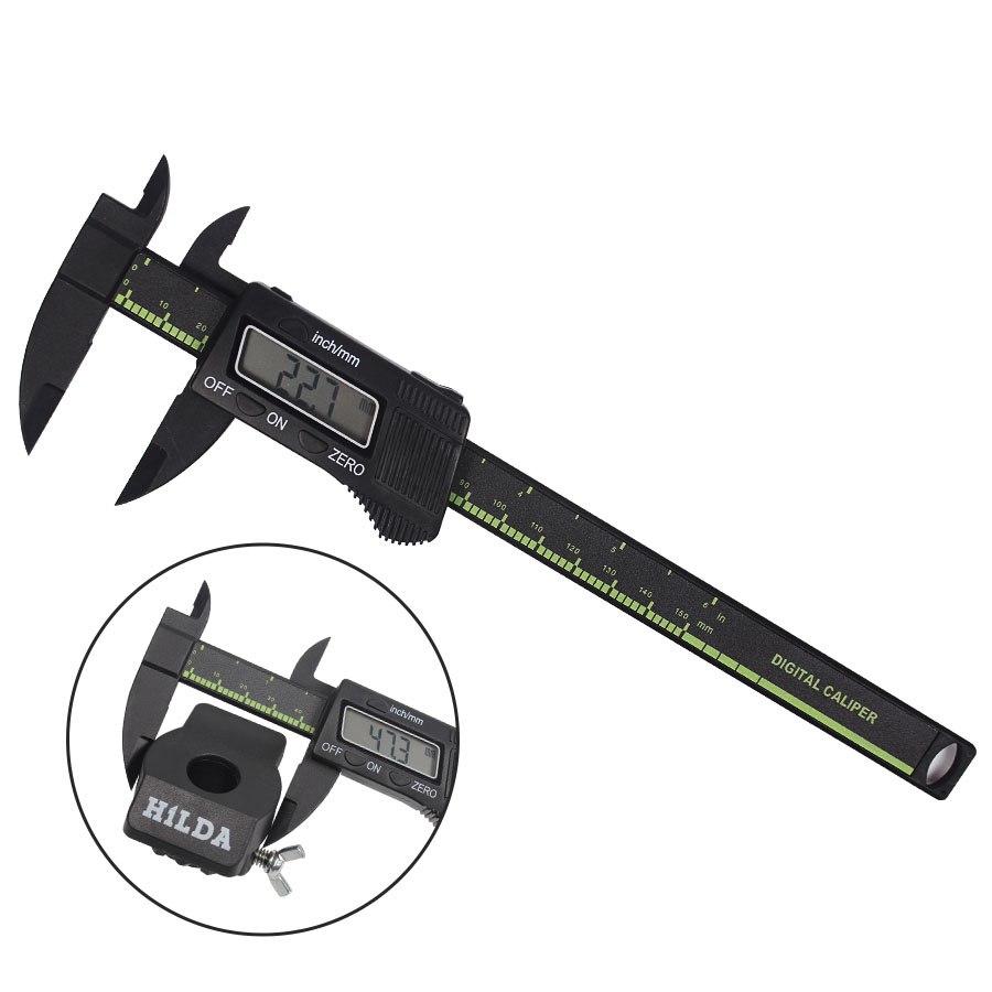 [해외]150mm 6inch LCD 디지털 전자 탄소 섬유 버니어 캘리퍼스 게이지 마이크로 미터 측정 & amp; 측정 도구/150mm 6inch LCD digital electronic carbon fiber vernier caliper gauge microm