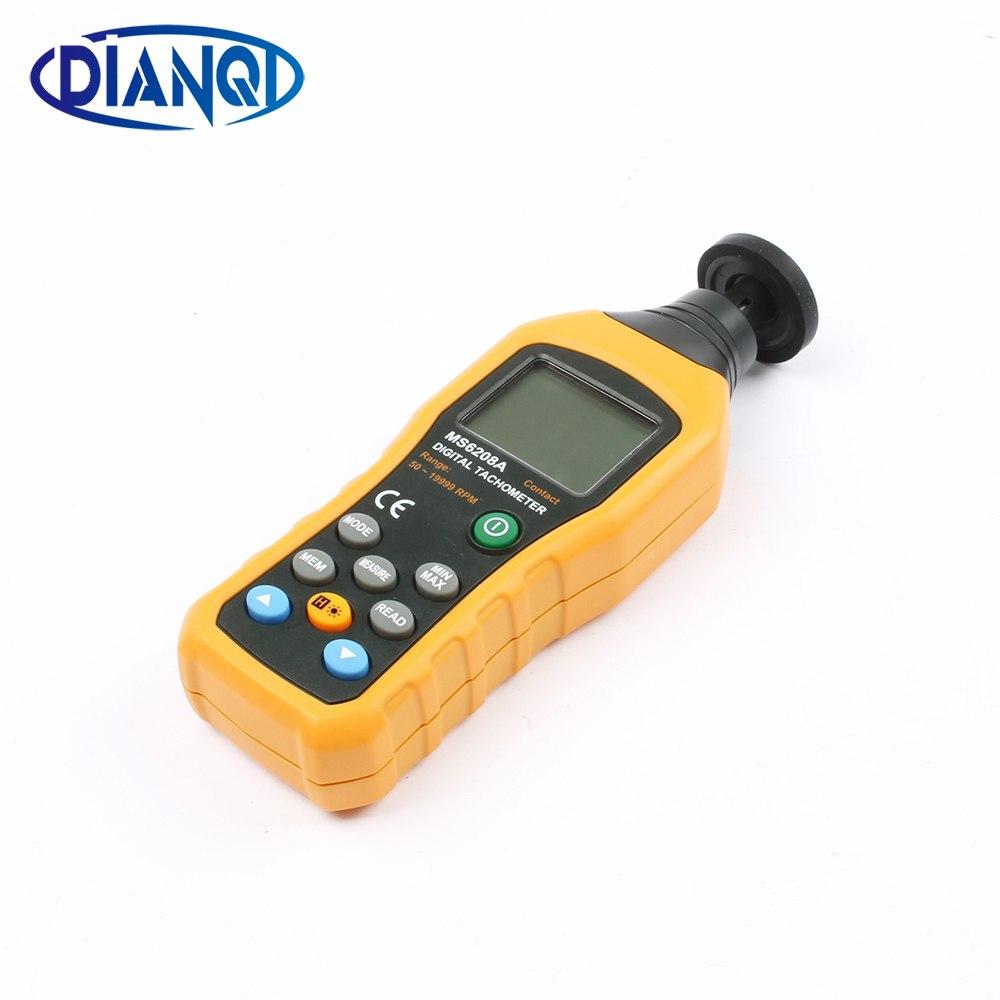 [해외]MS6208A 식 디지털 타코미터 측정기 고성능 회전 측정기 50-10000RPM MAX/MS6208A Contact type Digital Tachometer Meter High Performance revolution meter 50-10000RPM MAX