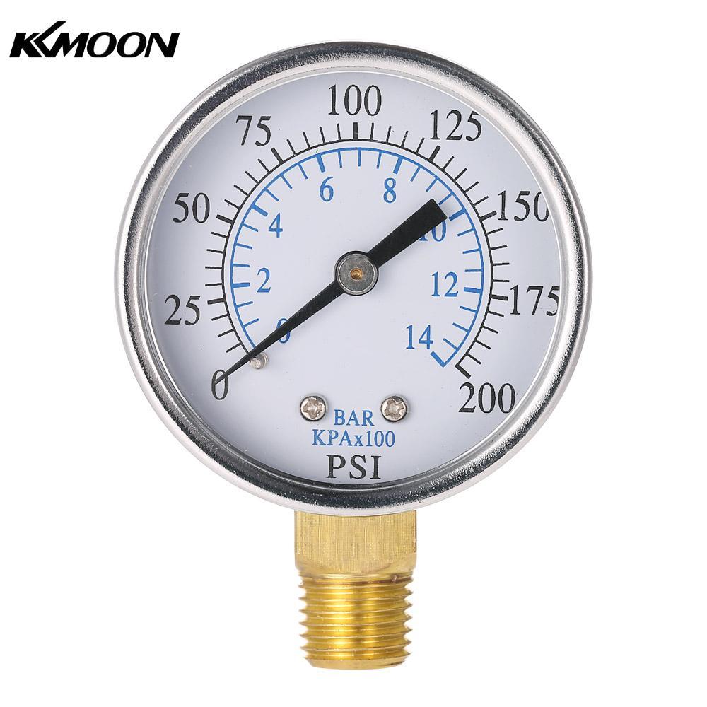 [해외]50mm 0200psi 014bar 풀 필터 수압 다이얼 유압 압력 게이지 미터 차압계 1/4 NPT 나사 압력계 압력/50mm 0200psi 014bar Pool Filter Water Pressure Dial Hydraulic Pressure Gauge Me