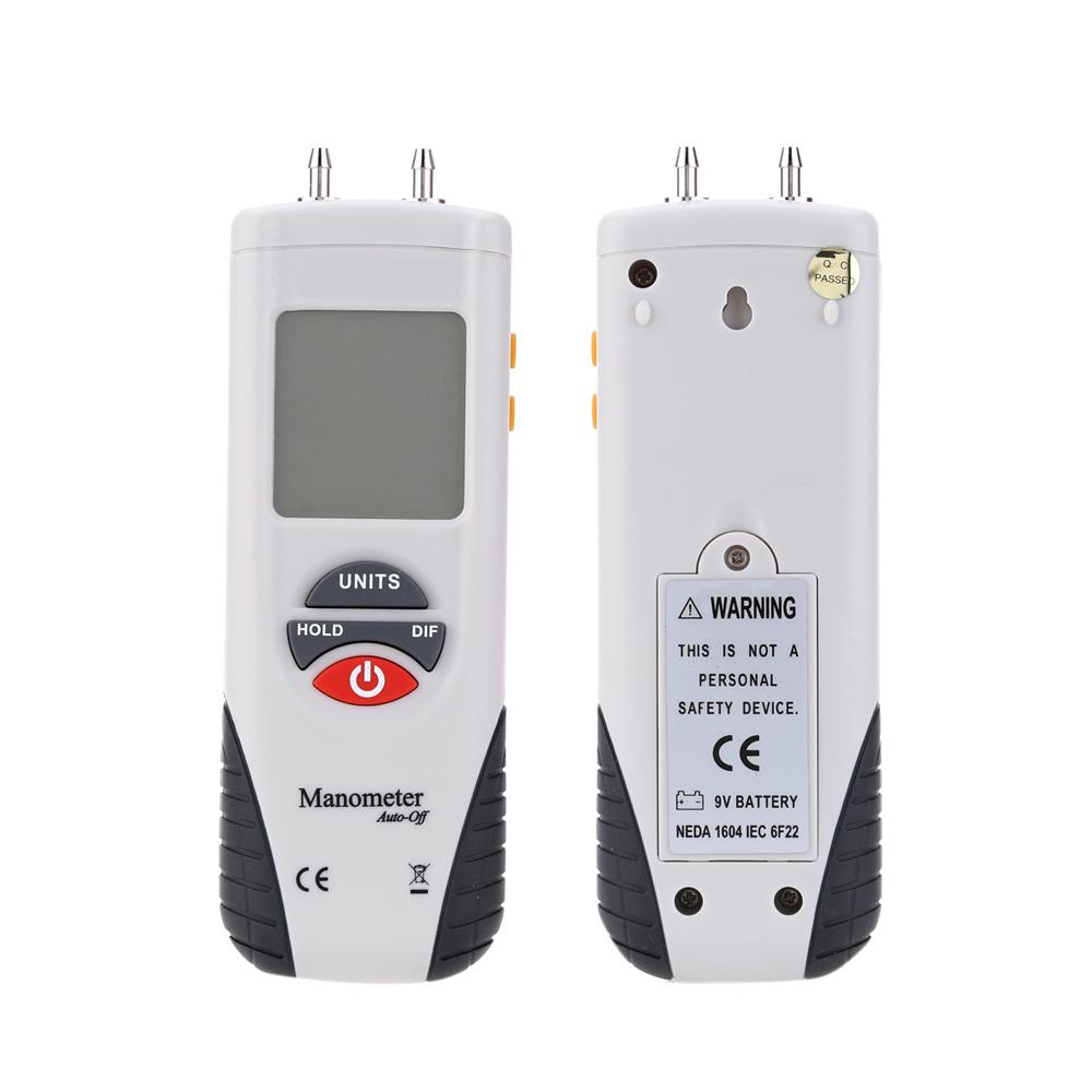 [해외]HT-1890 대형 LCD 화면 디스플레이 고성능 디지털 압력계 핸드 헬드 공기 압력 측정기 화이트 & amp; 검은/HT-1890 Large LCD Screen Display High performance Digital Manometer Handheld