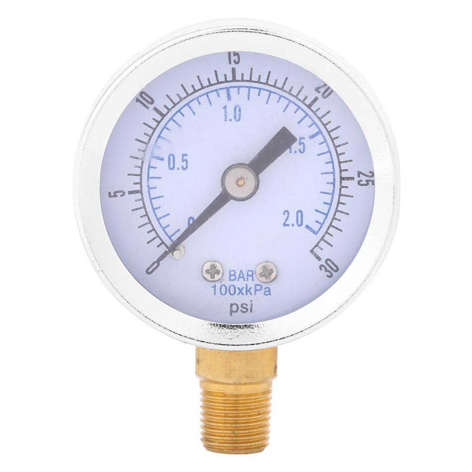 [해외]0-30psi 0-2bar 미니 다이얼 워터 오일 압축기 유압 압력 게이지 압력 압축기 미터 금속 압력계/0-30psi 0-2bar Mini Dial Water Oil Compressor Meter Hydraulic Pressure Gauge Pressure C