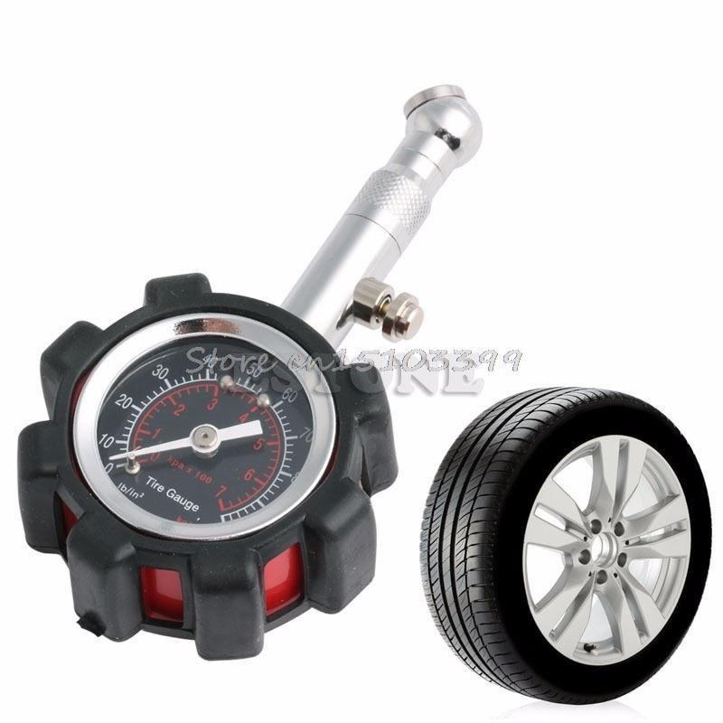 [해외]자동차 트럭 트럭 타이어 타이어 공기 압력 게이지 다이얼 미터 테스터 0-100 PSI/Motor Car Truck Bike Tyre Tire Air Pressure Gauge Dial Meter Tester 0-100 PSI