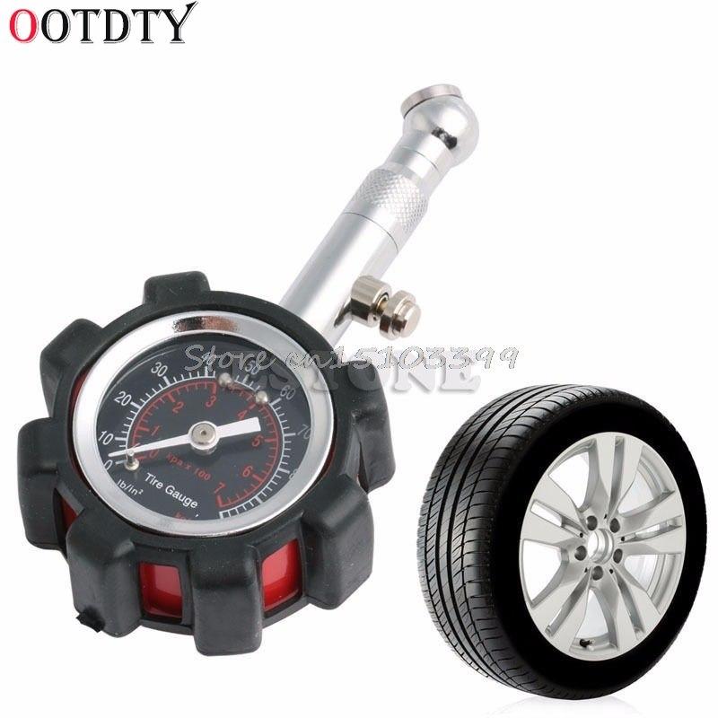 [해외]OOTDTY 모터 자동차 트럭 자전거 타이어 타이어 공기 압력 게이지 다이얼 미터 테스터 0-100 PSI/OOTDTY Motor Car Truck Bike Tyre Tire Air Pressure Gauge Dial Meter Tester 0-100 PSI