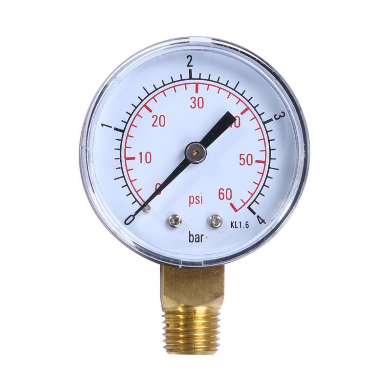 [해외]유압 압력 테스터 필터의 1 / 4inch 파이프 풀 스파 워터 압력 다이얼 게이지 60PSI 유압 압력계 풀/1/4inch Pipe of hydraulic pressure tester filter  Pool Spa Water Pressure Dial Gauge