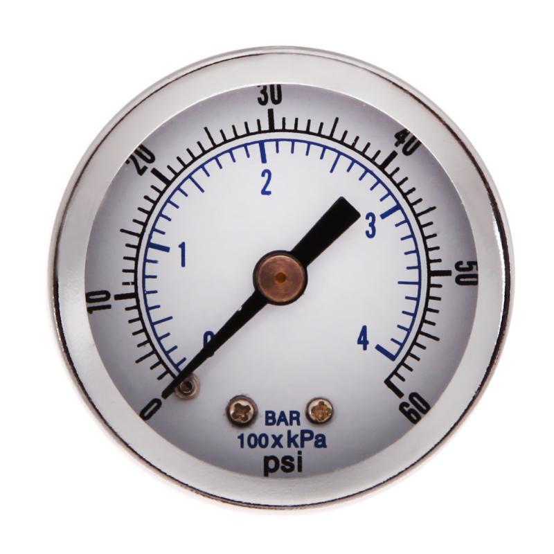 [해외]1 / 8 & NPT 공기 압축기 압력 게이지 유압 진공 게이지 압력 테스터 0-60 PSI 백 마운트 1.5 & 다이얼 플레이트 압력계/1/8& NPT Air Compressor Pressure Gauge Hydraulic Vacuum Gauge
