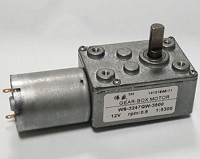 [해외]JSX5300-370 DC 12V 3500 r / min 0.6RPM 고 토오크 감속기 웜기어 모터/JSX5300-370 DC 12V 3500 r/min 0.6RPM High Torque Speed Reducer Worm Gear Motor