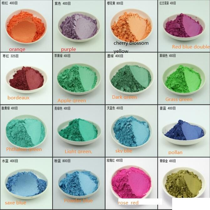 [해외]100g 16 색 진주 안료, 운모 가루, 진주 효과 분말 색상 진주 가루 안료 분말 금속 페인트 플래시 분말/100g 16 colors pearl pigment,mica powder,pearl effect powder Color pearl powder pigm