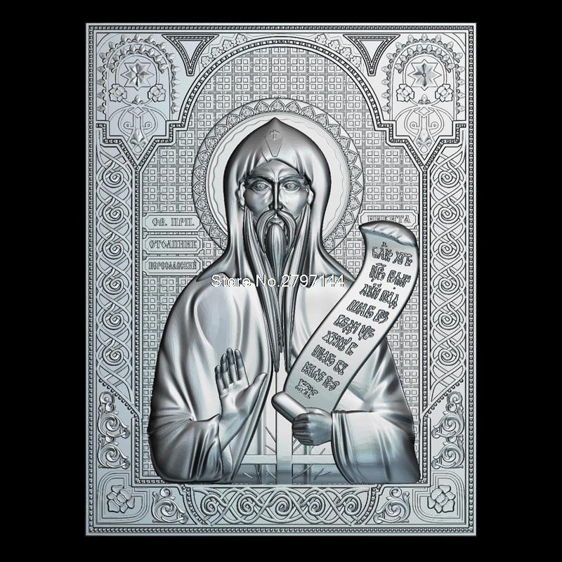 [해외]훌륭한 Nikita Stylites Pereslavsky 3D 모델 릴리프 그림 STL 형식 종교 STL 파일 형식의 cnc에 대한 3D 모델 완화/Venerable Nikita Stylites Pereslavsky 3D model relief figure ST