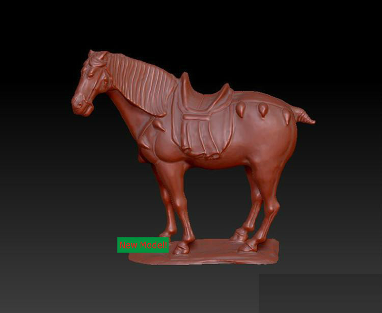 [해외]3D 모델 stl 형식, cnc 기계 말을3D 솔리드 모델 회전 조각/3D model stl format, 3D solid model rotation sculpture for cnc machine Horse
