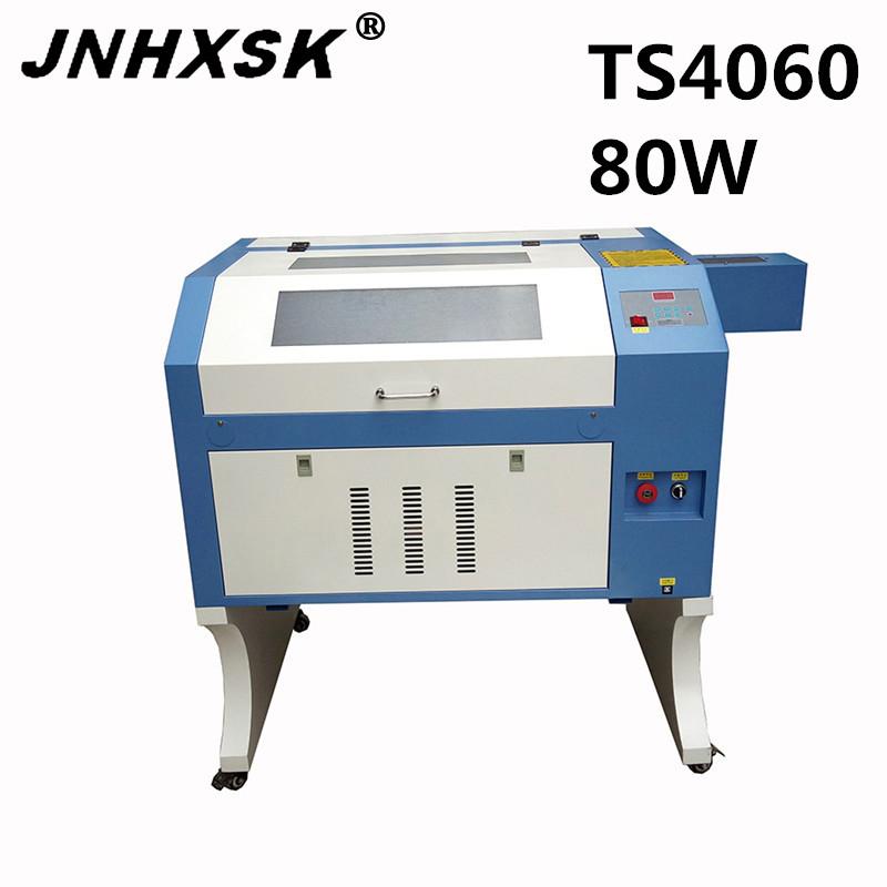 [해외]JNHXSK 80W TS4060 합판 유리 CO2 인터페이스 2.0 고품질의 400x600mm 데스크탑 레이저 조각 및 절단기/JNHXSK 80W TS4060 400x600mm desktop laser engraving and cutting machine for