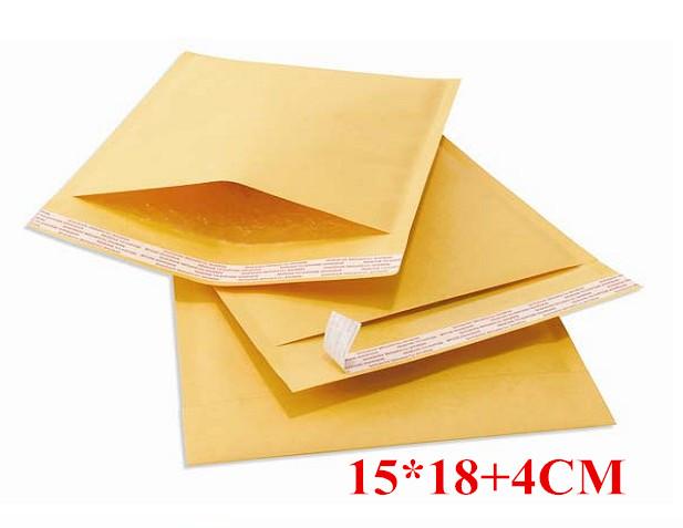 [해외]가방 자체 Sealing15 * 18 + 4cm 메일 링 패딩 pakaging 50PCS / LOT의 150x220mm 크래프트 폴리 거품 우편물 봉투/50pcs/LOT 150x220mm Kraft Poly bubble Mailer envelopes pakagi