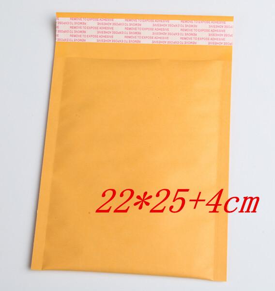[해외]20PCS / LOT의 220x290mm 제조 업체 크래프트 가방 거품 우편물 패딩 봉투 종이 우편물 메일 링 가방 (22) * 25 + 4cm/20pcs/LOT 220x290mm Manufacturer Kraft bags bubble mailers padded