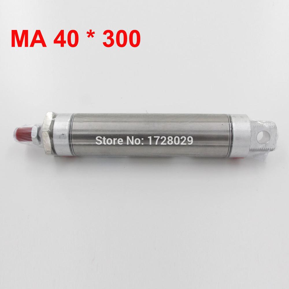 [해외]복동 석사 40-300 스테인레스 스틸 에어 실린더/Double Acting MA 40-300 Stainless Steel Air Cylinder