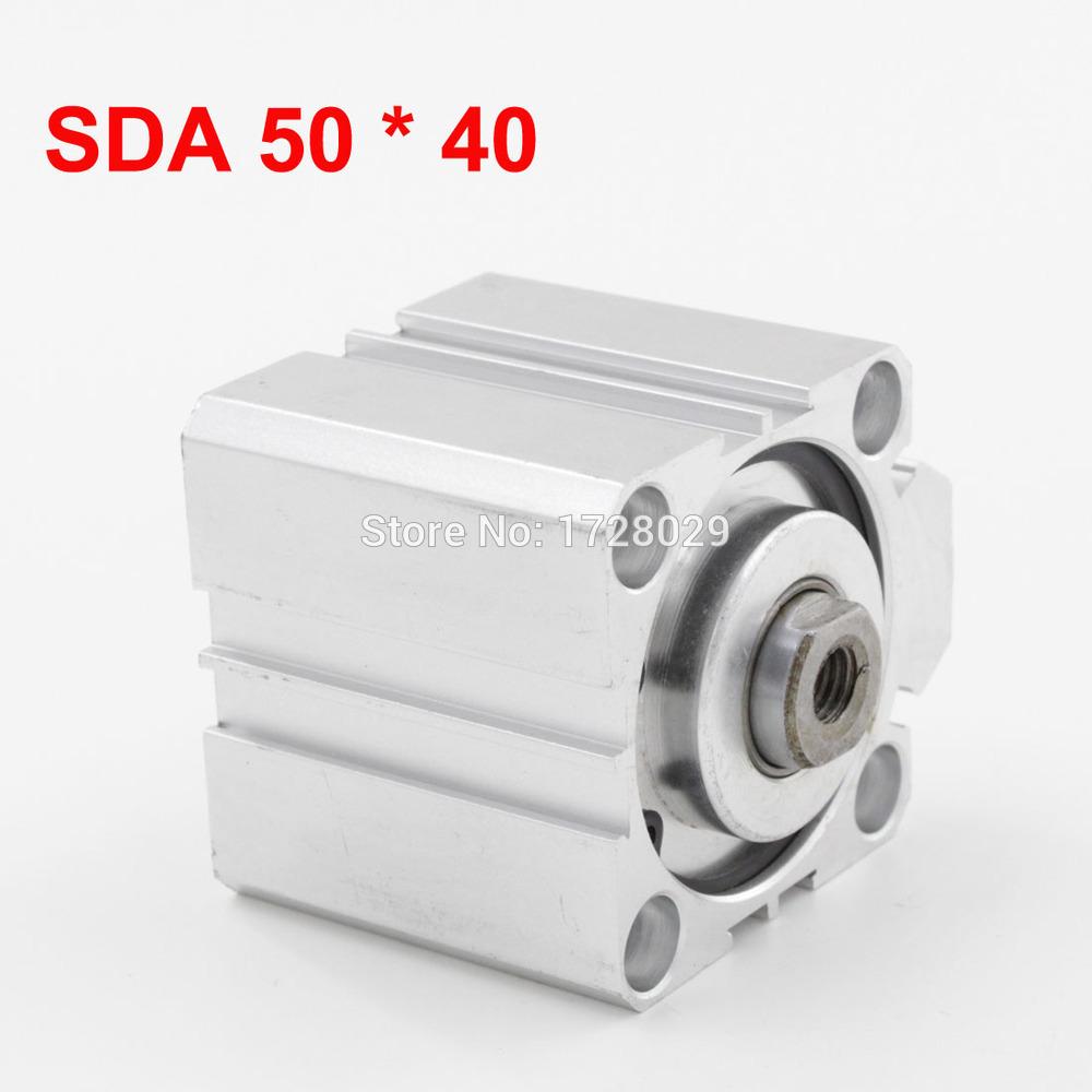 [해외]?1 개 압축 공기를 넣은 소형 얇은 에어 실린더 SDA 50 * 40/ 1 PC Pneumatic Compact Thin Air Cylinder SDA 50*40