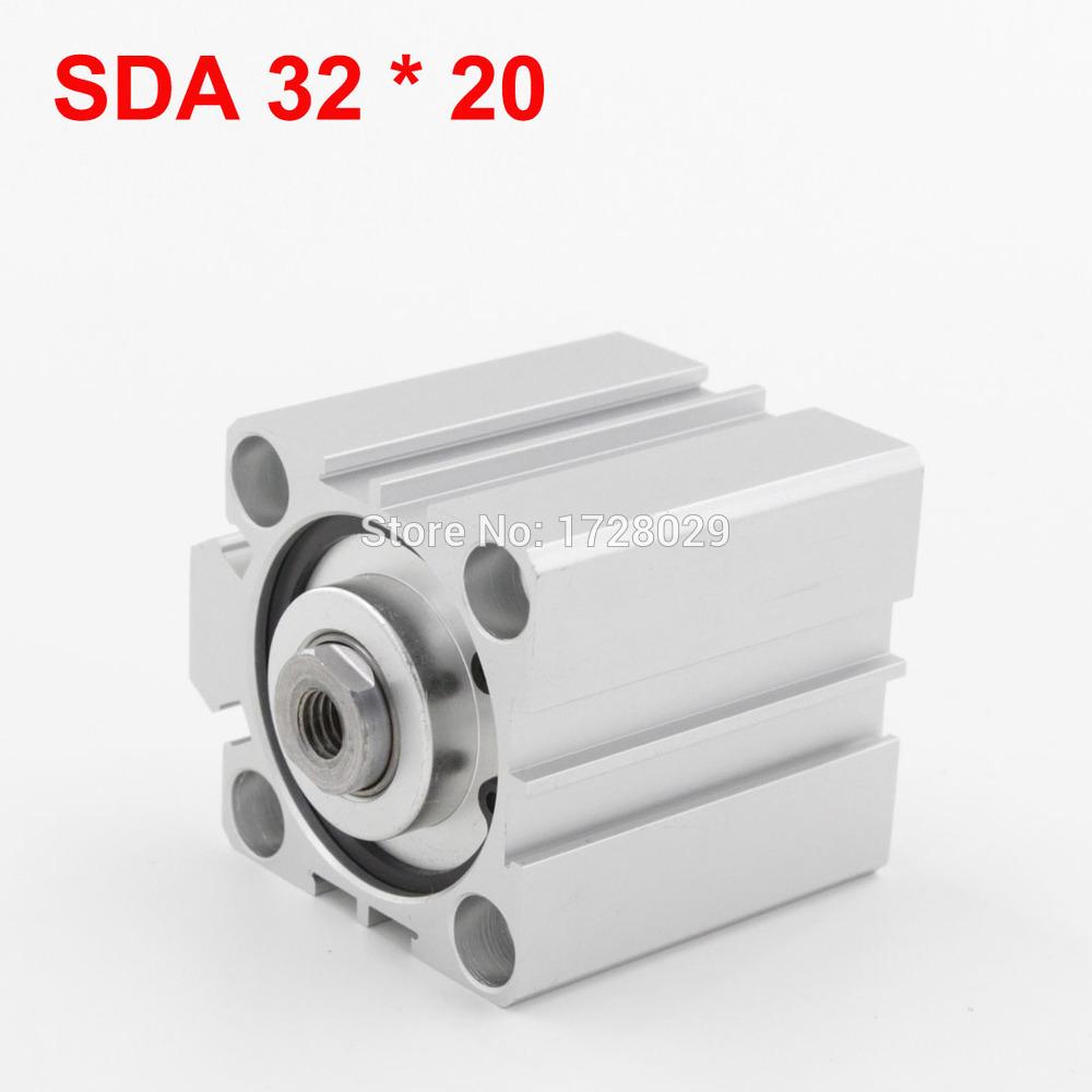 [해외]표준 공압 SDA 32mm 튜브 20mm 스트로크 컴팩트 얇은 실린더/Standard Pneumatic SDA 32mm Bore 20mm Stroke Compact Thin Cylinder