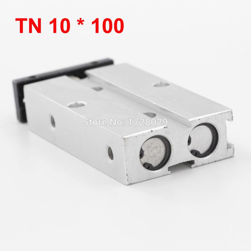 [해외]듀얼 가이드 실린더 TN Series10-100 양축로드 알루미늄 합금 공압/Dual Guide Cylinder TN Series10-100 Double Shaft Rod Aluminum Alloy Pneumatic