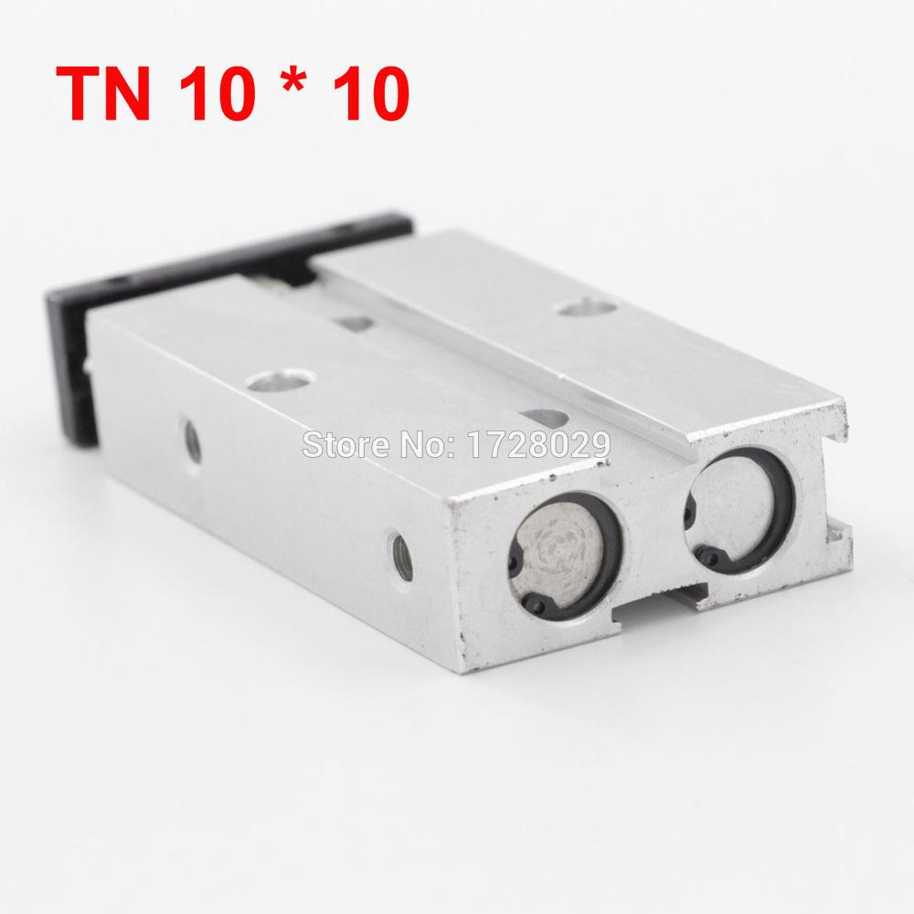 [해외]듀얼 가이드 실린더 TN 시리즈 10 * 10 양축로드 공압/Dual Guide Cylinder TN Series 10*10 Double Shaft Rod Pneumatic