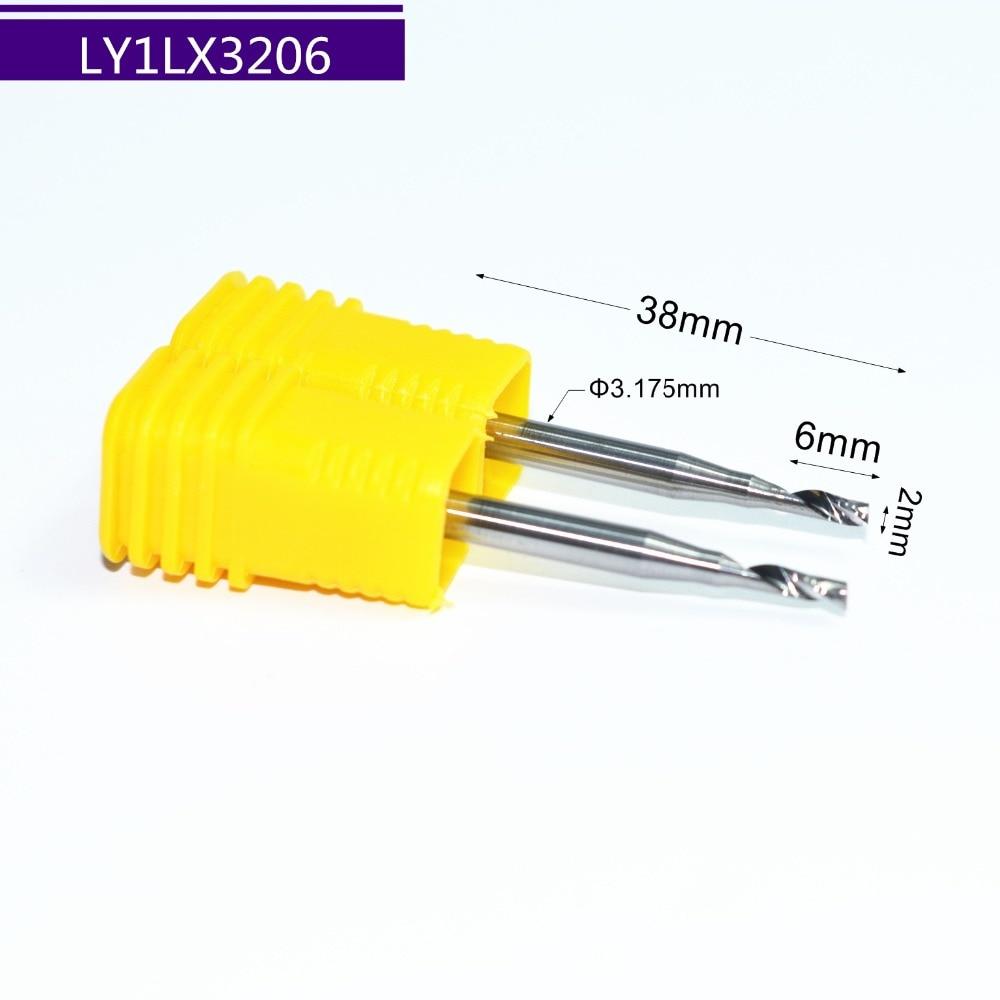 [해외]2PCS-3.175mm * 2mm * 6mm, 단일 플룻 나선형 엔드 밀 cnc 단단한 카바이드 알루미늄 조각 밀링 커터, 알루미늄 복합 패널/2PCS-3.175mm*2mm*6mm,Single Flute Spiral end mill cnc solid carbid