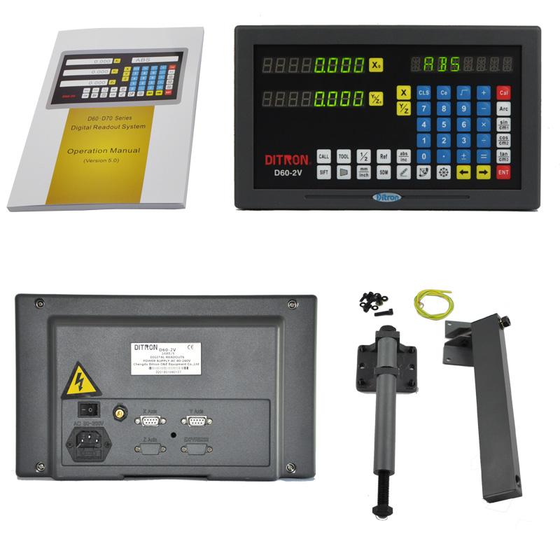 [해외]9 핀 TTL 금속 쉘 2 축 밀링 머신 선반 머신 디지털 디스플레이 디스플레이 Dro Bracket/9pin TTL  Metal Shell 2 Axis Milling Machine Lathe Machine  Digital Readout Display Dro B