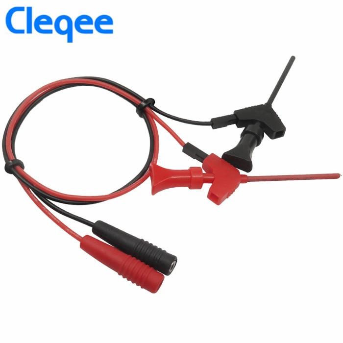 [해외]Cleqee P1511B 2Pcs / Set 2mm 암 플러그 - 내부 스프링 테스트 후크 프로브 AWG 테스트 리드 키트 - 디지털 멀티 펜용/Cleqee P1511B 2Pcs/Set 2mm Female Plug to Internal Spring Test Ho
