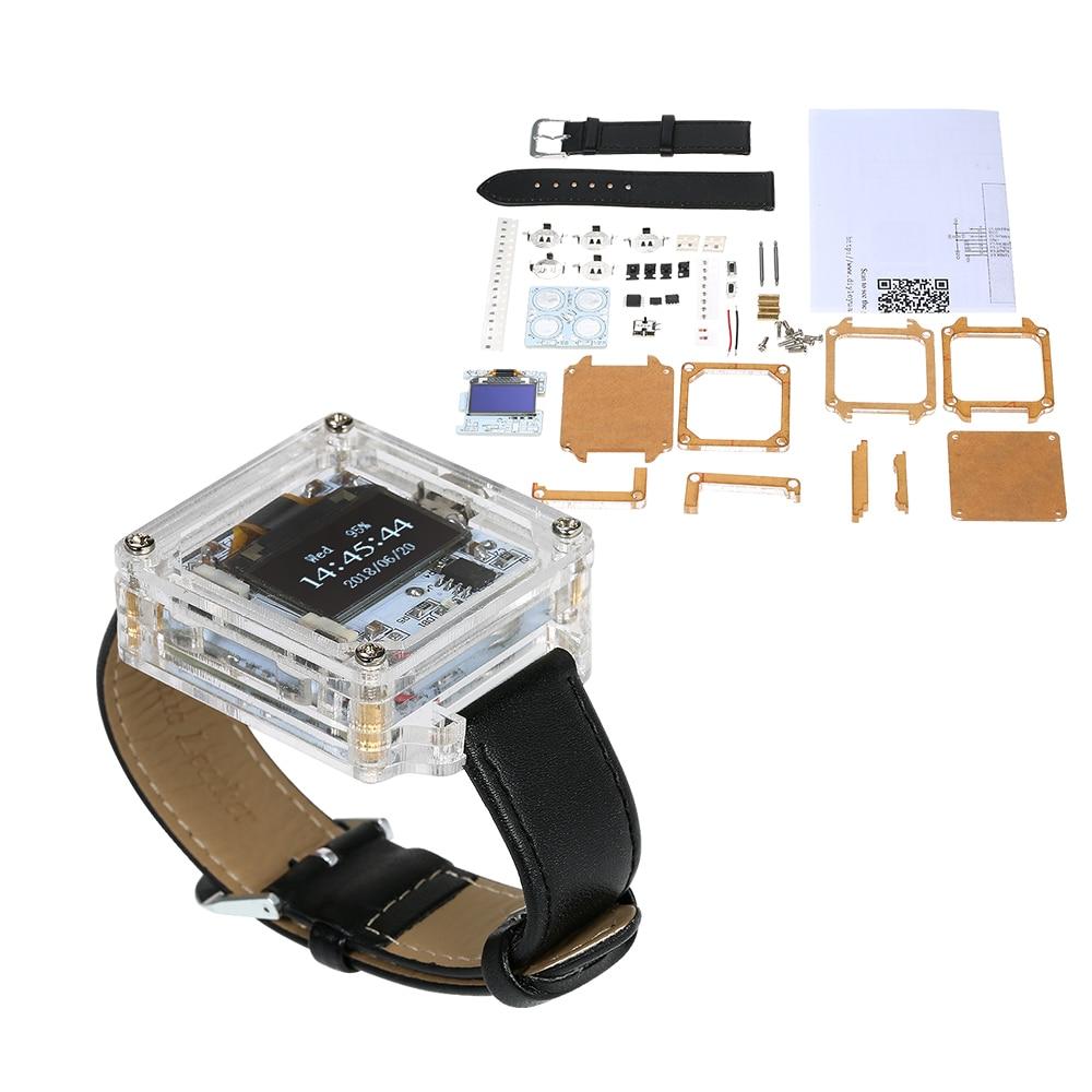 [해외]단일 칩 디지털 LED 시계 전자 시계 키트 투명 시계 DIY LED 디지털 튜브 손목 시계 DIY 키트/Single-Chip Digital LED Watch Electronic Clock Kit Transparent Watch DIY LED Digital Tu
