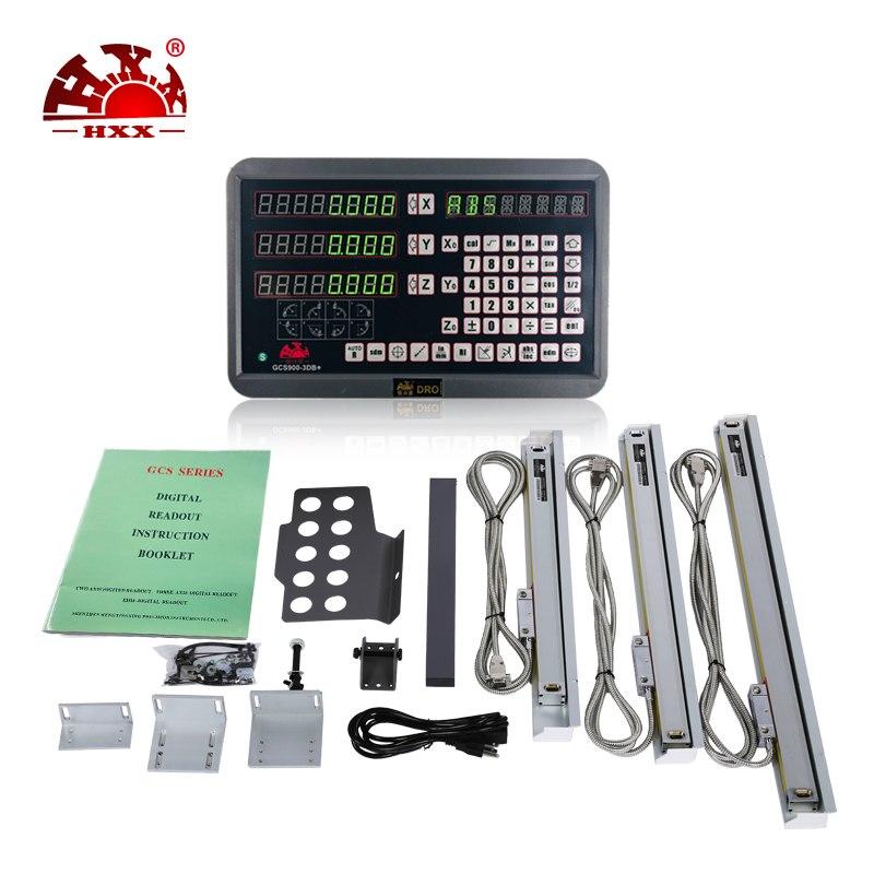 [해외]3 축 디스플레이 및 3pcs 50-1000mm 선형 눈금 선반 기계 5 미크론/3 axis display and 3pcs 50-1000mm linear scale 5 micron for lathe machine